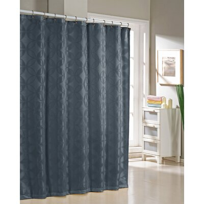 Bayonne Jacquard Shower Curtain Color: Navy