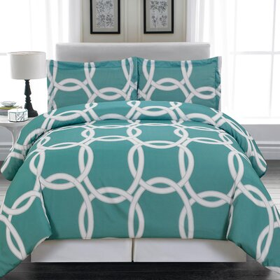 Redington 3 Piece Full/Queen Duvet Cover Set Color: Blue Green