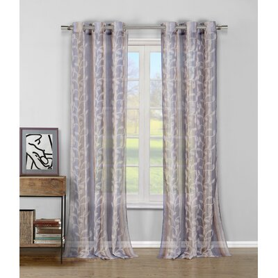 DR International Sarian Curtain Panel - Color: Blue