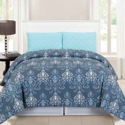 Lucienda 3 Piece Duvet Cover Set Size: Full/Queen