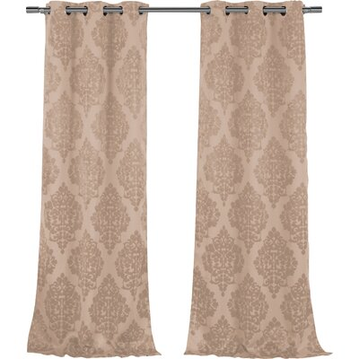 Damask Blackout Grommet Curtain Panels