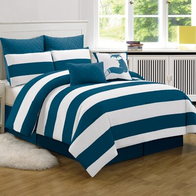 Corey Comforter Set in Cobalt Size: Queen