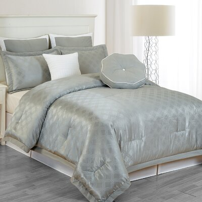 Winston Comforter Set in Grey Size: Queen