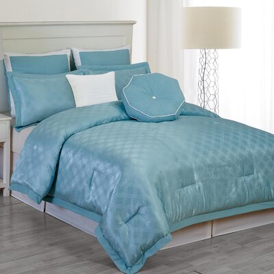 Winston Comforter Set in Blue Size: Queen