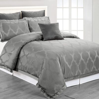 Matson Comforter Set in Grey Size: King