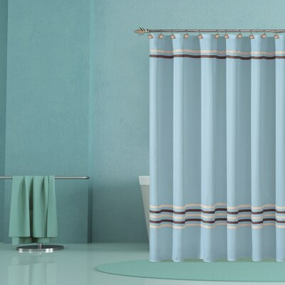 Trinity Shower Curtain Color: Aqua