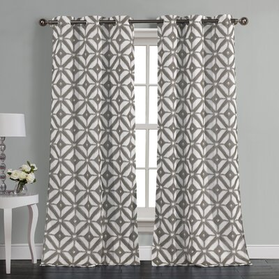 McKay Curtain Panels Color: Gray