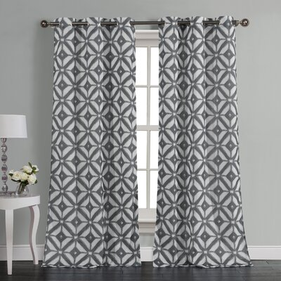 McKay Curtain Panels Color: Steel