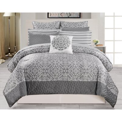 Ashlea 10 Piece Comforter Set Size: King