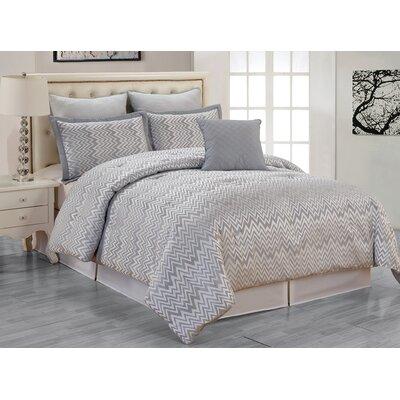 Veyra 6 Piece Queen Comforter Set Color: Silver