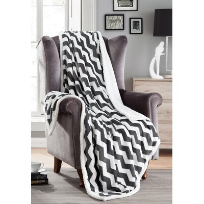 Fofo Sherpa Throw Blanket Color: Gray