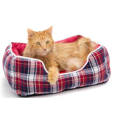 Braxton Pet Bed Bolster Color: Red, Size: Small (16