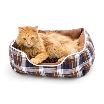 Braxton Pet Bed Bolster Color: Chocolate, Size: Large (20 L x 8 W)