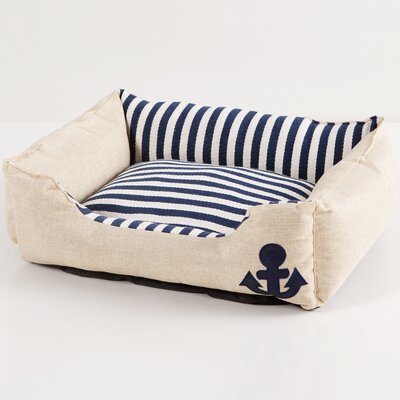 Everly Bolster Pet Bed Color: Blue