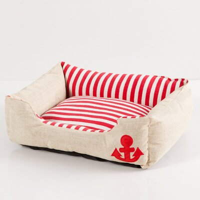 Everly Bolster Pet Bed Color: Red