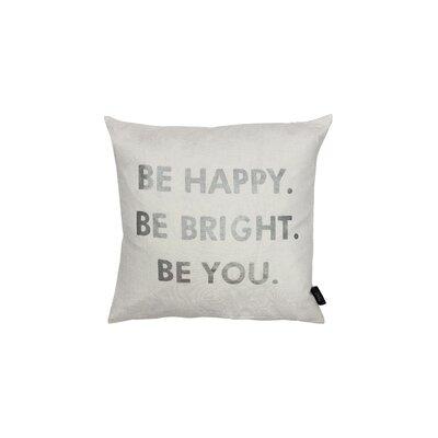 Alissa Decorative Throw Pillow Color: White/Silver
