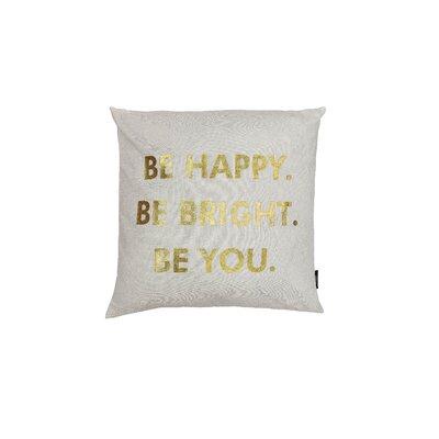 Alissa Decorative Throw Pillow Color: White/Gold