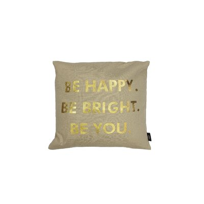 Alissa Decorative Throw Pillow Color: Gold