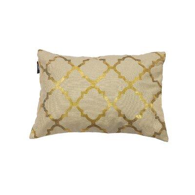Holly Decorative Lumbar Pillow Color: Linen/Gold