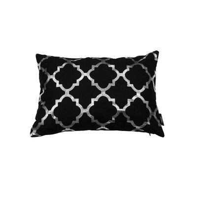 Holly Decorative Lumbar Pillow Color: Black/Silver