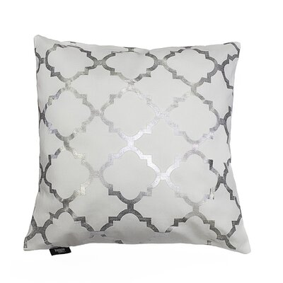 Holly Decorative Throw Pillow Color: White/Silver
