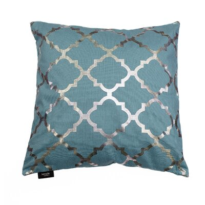 Holly Decorative Throw Pillow Color: Aqua Blue/Silver