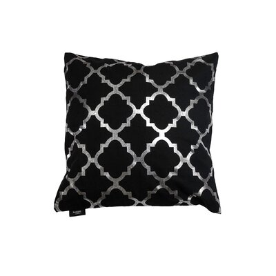 Holly Decorative Throw Pillow Color: Black/Silver