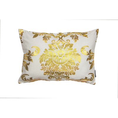 Evangeline Decorative Lumbar Pillow Color: White/Gold