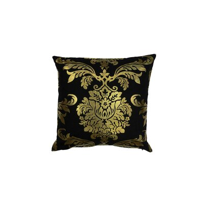 Evangeline Decorative Throw Pillow Color: Black/Gold