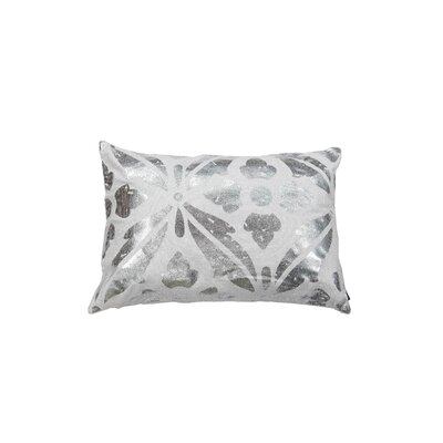 Kent Decorative Lumbar Pillow Color: White/Silver