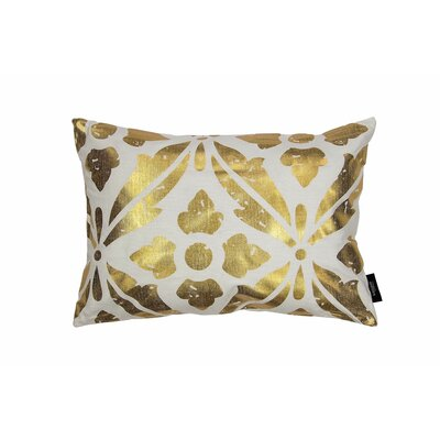 Kent Decorative Lumbar Pillow Color: White/Gold