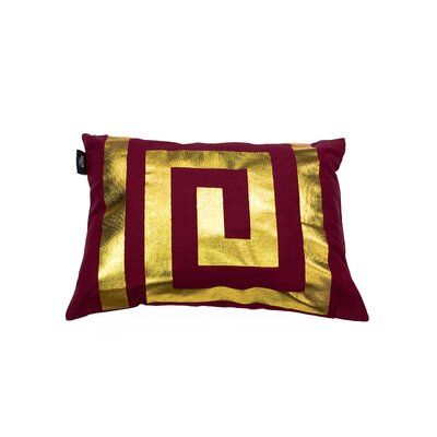 James Decorative Lumbar Pillow Color: Garnet/Gold