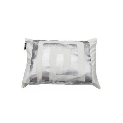 James Decorative Lumbar Pillow Color: White/Silver