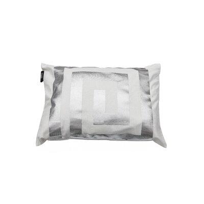 James Decorative Lumbar Pillow Color: White/Silver