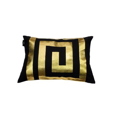 James Decorative Lumbar Pillow Color: Black/Gold