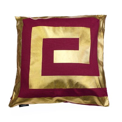 James Decorative Throw Pillow Color: Garnet/Gold
