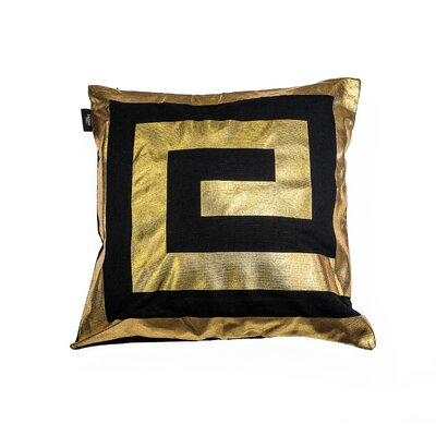 James Decorative Throw Pillow Color: Black/Gold