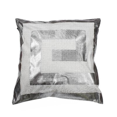 James Decorative Throw Pillow Color: White/Silver