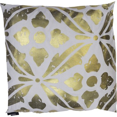 Vendela Decorative Throw Pillow Color: White/Gold