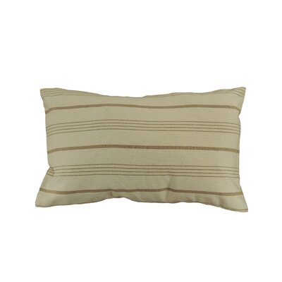 Venda Cotton Lumbar Pillow Color: Beige