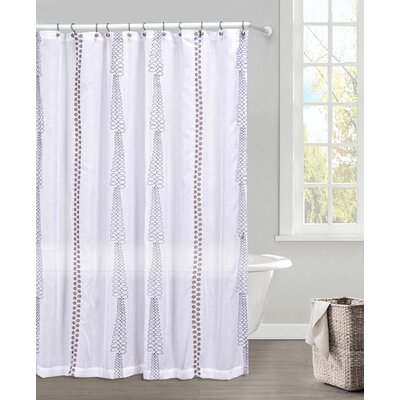 Kettering Polyester Shower Curtain Color: Dark Gray