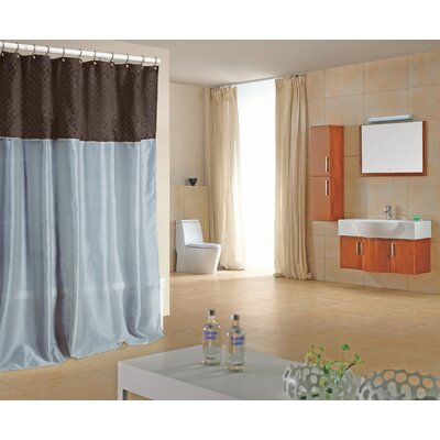 Dion Shower Curtain in Chocolate / Blue