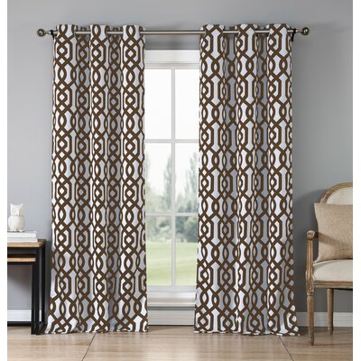 Islip Geometric Blackout Thermal Grommet Curtain Panels