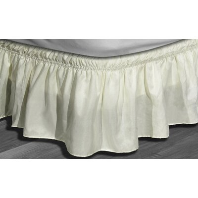 Angelina Ruffle Bed Skirt Color: Beige, Size: Queen/King