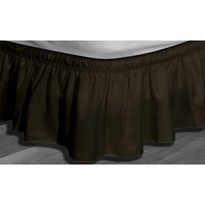 Angelina Ruffle Bed Skirt Color: Chocolate, Size: Queen/King