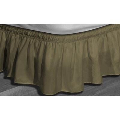 Angelina Ruffle Bed Skirt Color: Mocha, Size: Queen/King