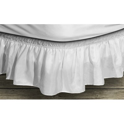Angelina Ruffle Bed Skirt Color: White, Size: Queen/King