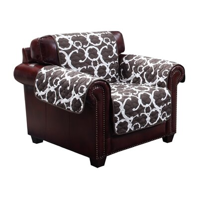 Margret Reversible Water Resistent Polyester Armchair Slipcover Upholstery: Chocolate