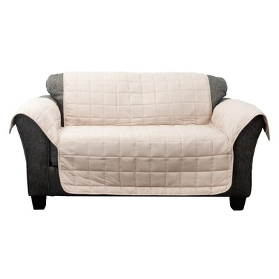 Waterproof Box Cushion Loveseat Slipcover Upholstery: Taupe-Mocha