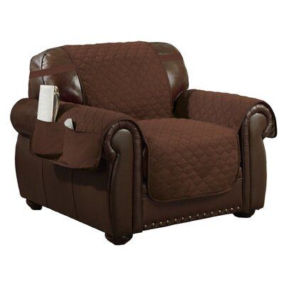 Reversible Waterproof Polyester Recliner Slipcover Upholstery: Chocolate-Natural